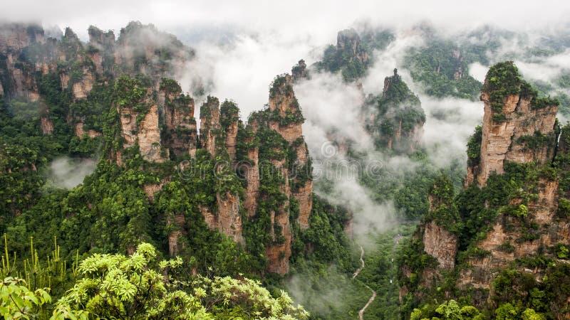 Montanha de China em Zhang Jie Jia foto de stock royalty free