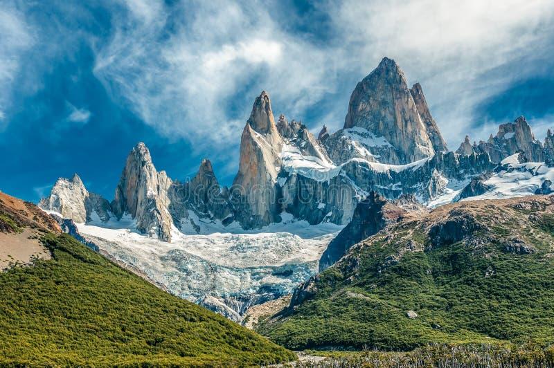 Montanha de Fitz Roy, EL Chalten, Patagonia, Argentina fotos de stock