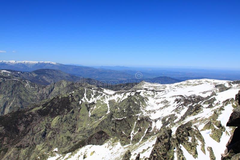 Montanha de Gredos em Avila em Castilla foto de stock