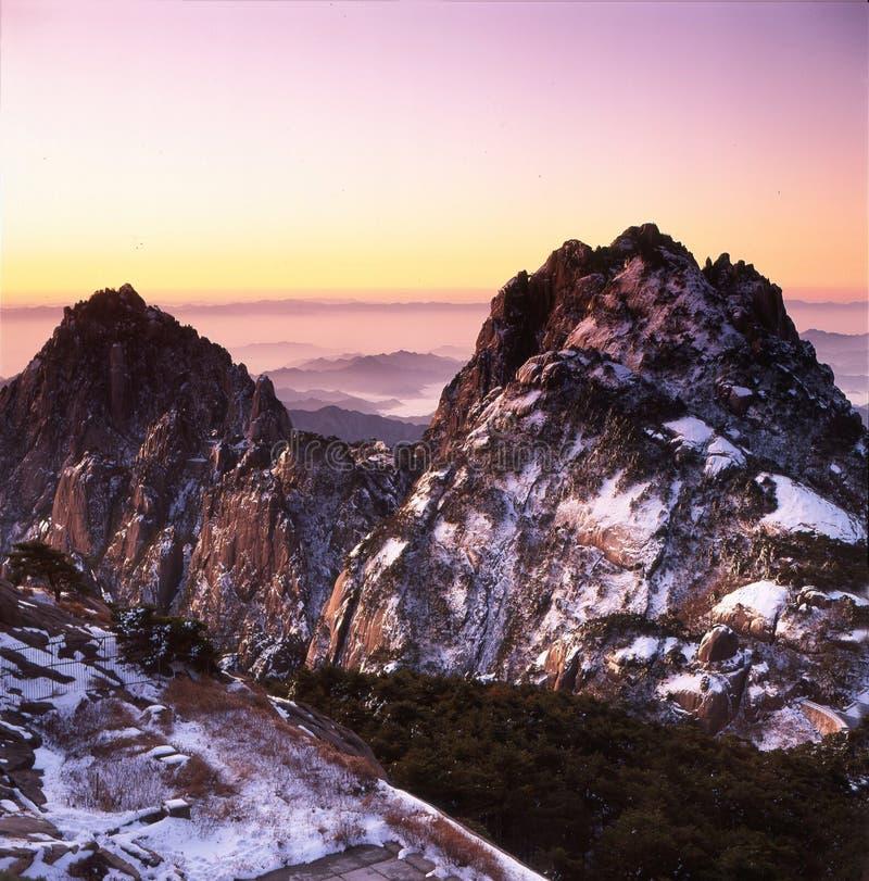 Montanha de Huangshan fotografia de stock