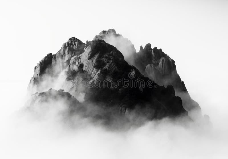 Montanha de Huangshan (em China) foto de stock royalty free