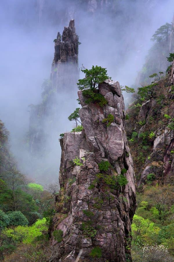 Montanha de Huangshan (montanha amarela), China imagens de stock