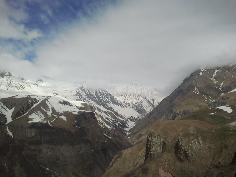 Montanha de Kazbegi fotos de stock royalty free