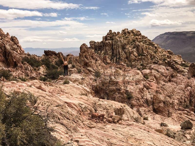 Montanha de Kraft, área vermelha da conservação da rocha, Nevada do sul, EUA fotos de stock royalty free