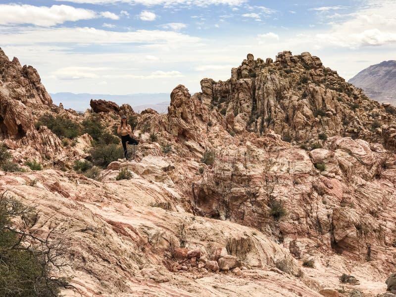 Montanha de Kraft, área vermelha da conservação da rocha, Nevada do sul, EUA fotos de stock