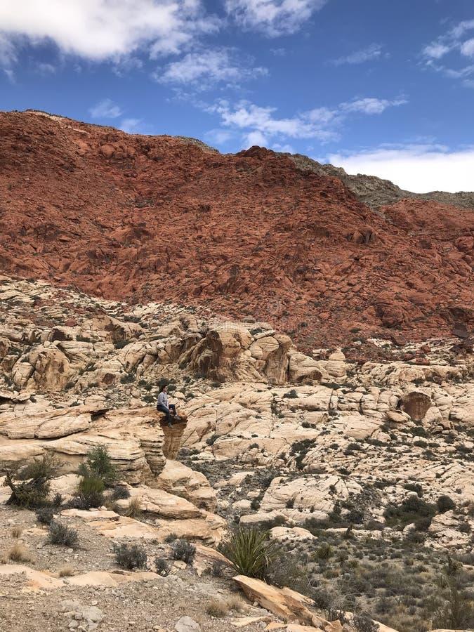 Montanha de Kraft, área vermelha da conservação da rocha, Nevada do sul, EUA imagens de stock royalty free