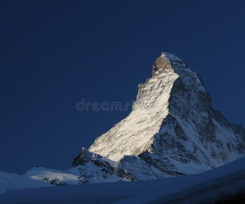 Montanha de Matterhorn fotos de stock royalty free