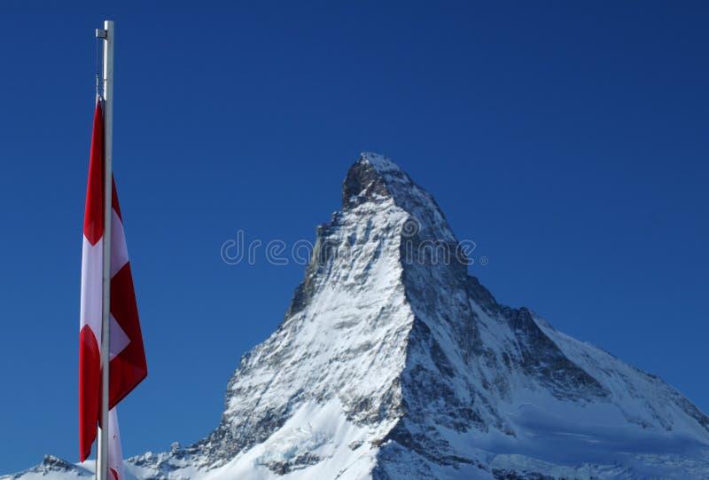 Montanha de Matterhorn fotografia de stock
