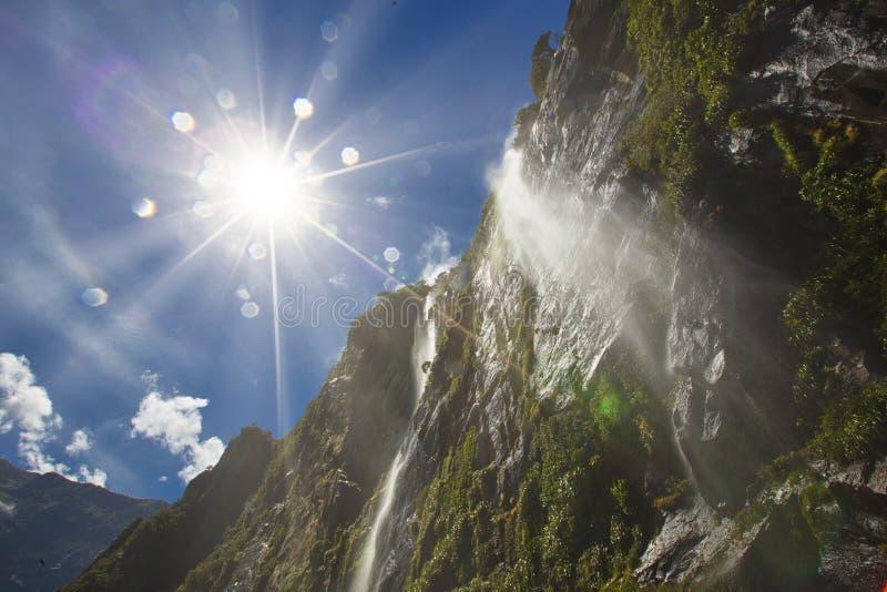 Montanha de Milford Sound foto de stock