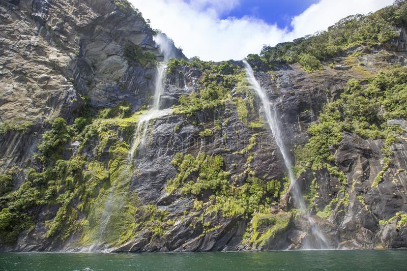 Montanha de Milford Sound imagem de stock