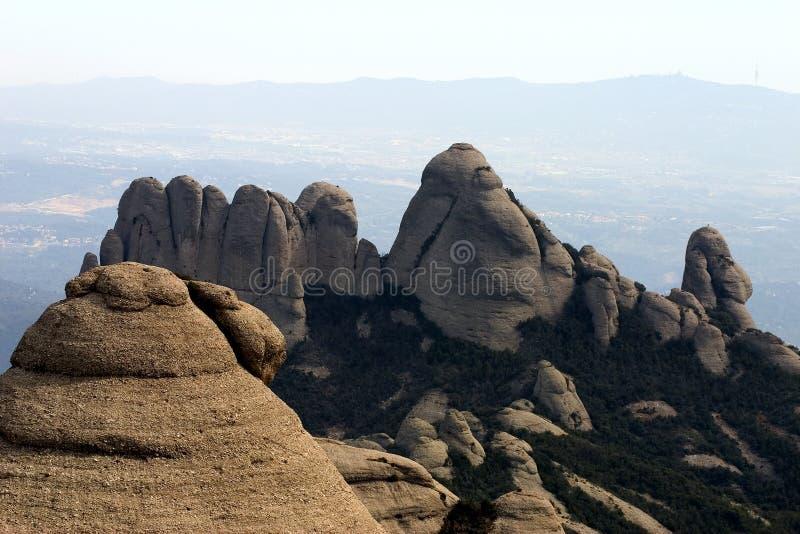 Montanha de Montserrat fotografia de stock