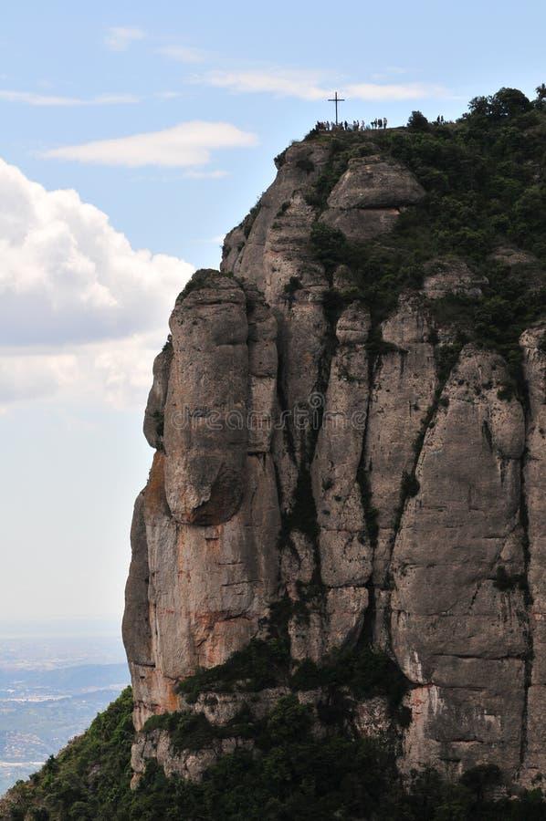 Montanha de Montserrat com rood imagem de stock