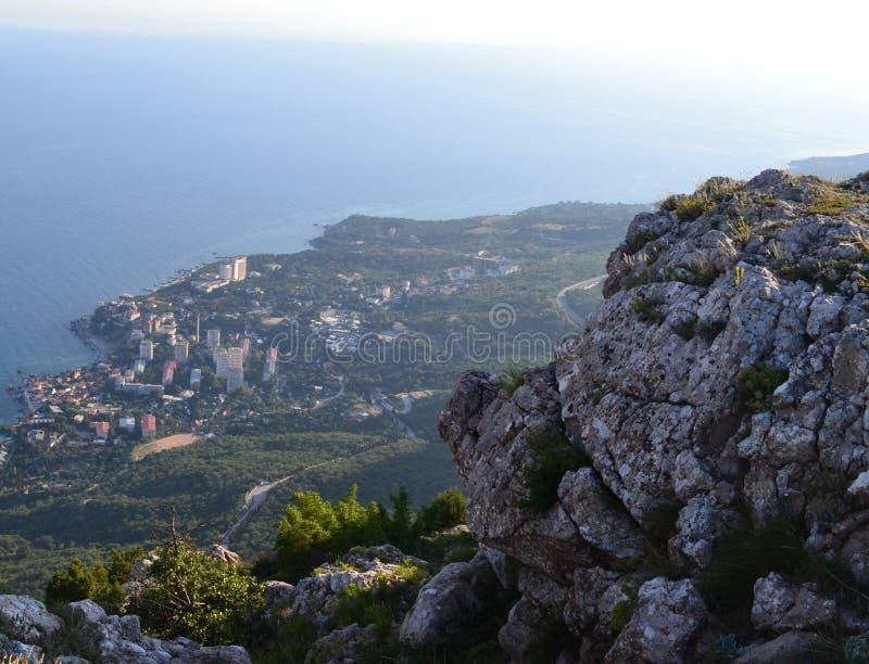 Montanha de Mshatka sobre Foros, Crimeia foto de stock