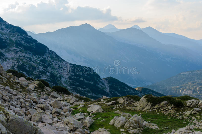 Montanha de Pirin, Bulgária fotografia de stock