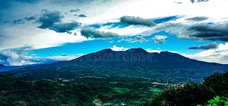 Montanha de Puntang foto de stock