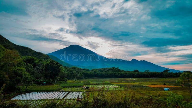 Montanha de Rinjani fotos de stock royalty free