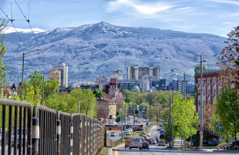 Montanha de Sófia e de Vitosha imagem de stock