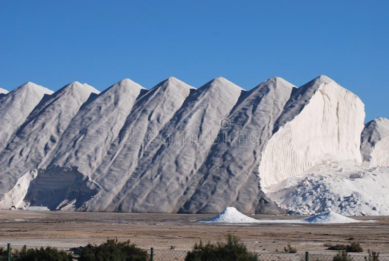 Montanha de sal foto de stock