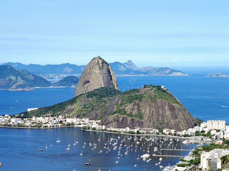 Montanha de Sugar Loaf em Rio de janeiro, Brasil imagem de stock royalty free