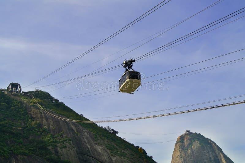 Montanha de Sugar Loaf em Rio de janeiro, Brasil fotos de stock