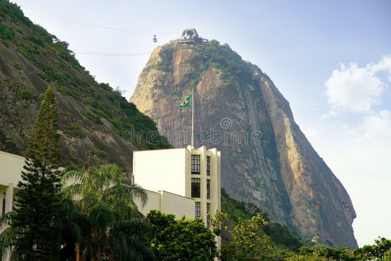 Montanha de Sugar Loaf em Rio de janeiro, Brasil fotografia de stock