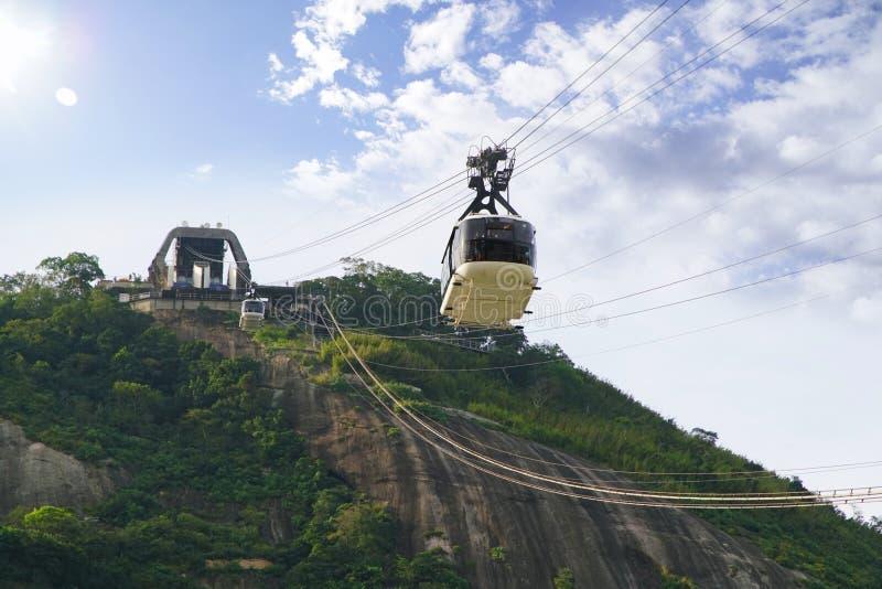 Montanha de Sugar Loaf em Rio de janeiro, Brasil imagens de stock