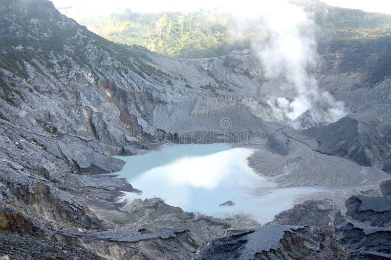Montanha de Tangkuban Perahu imagem de stock