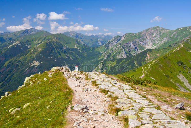 Montanha de Tatra, Polônia, caminhada de Kasprowy Wierch a Czerwone Wierchy fotografia de stock