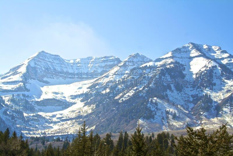Montanha de Timpanogos fotografia de stock