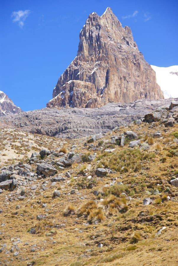 Montanha de Trapecio, pico rochoso foto de stock royalty free