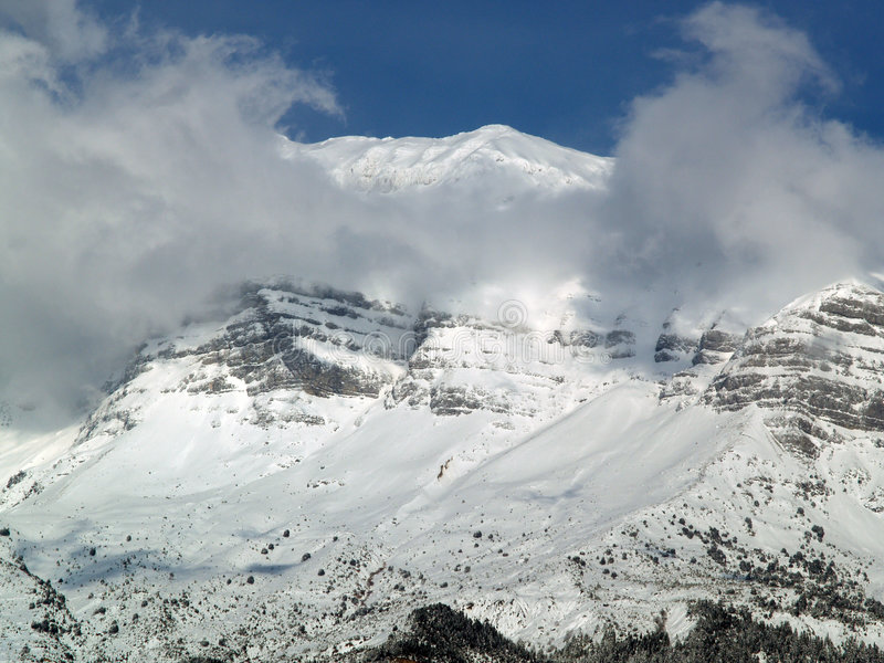 Montanha de Tzoumerka fotografia de stock royalty free