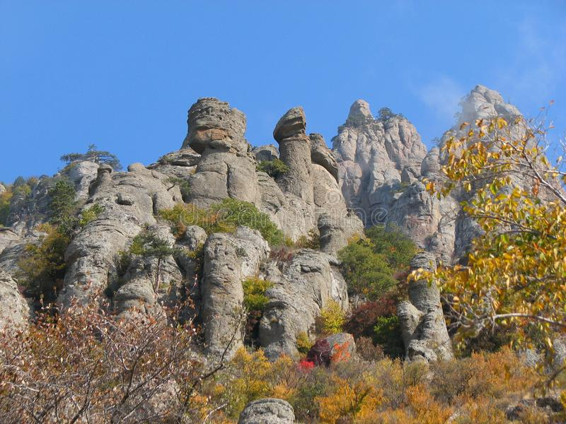 Montanha Demerdji - vale de Ghost - Alushta, R?ssia fotos de stock