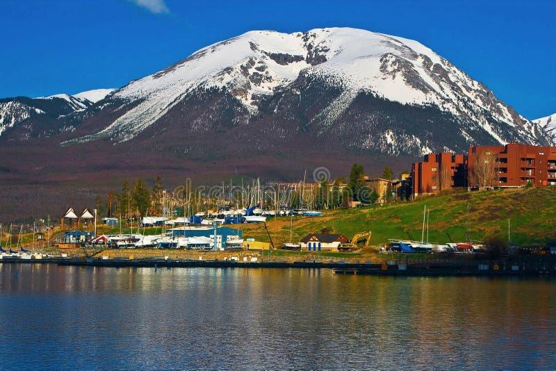Montanha do búfalo do lago Dillon fotos de stock royalty free