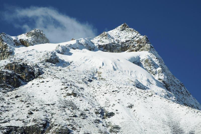 Montanha do BLANCA de Cordilheira fotografia de stock royalty free