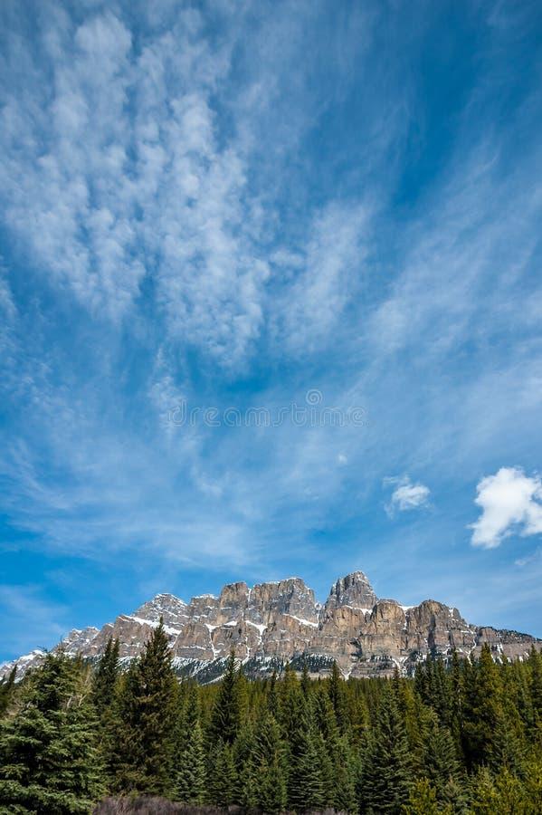 Montanha do castelo imagem de stock