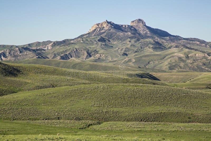 Montanha do coração vista do monte do monumento fotos de stock royalty free