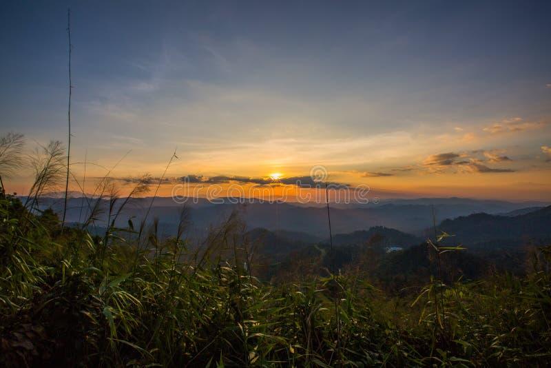 Montanha do elefante ou montanha da galáxia Pa nacional de Pha Phum da tanga imagem de stock