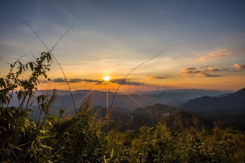 Montanha do elefante ou montanha da galáxia Pa nacional de Pha Phum da tanga foto de stock royalty free