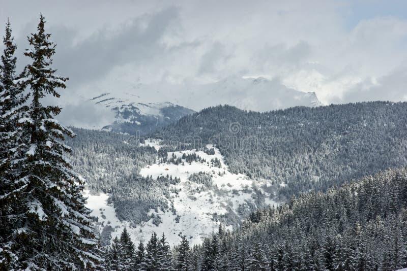 Montanha do inverno fotos de stock royalty free