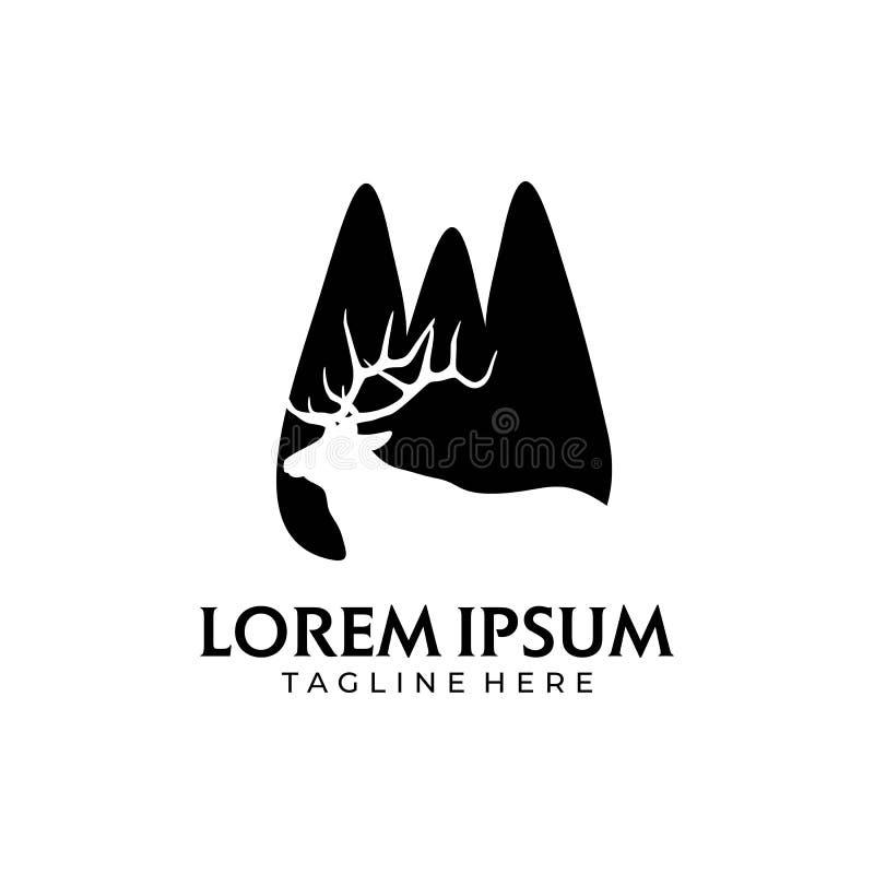Montanha do lago deer ilustração stock