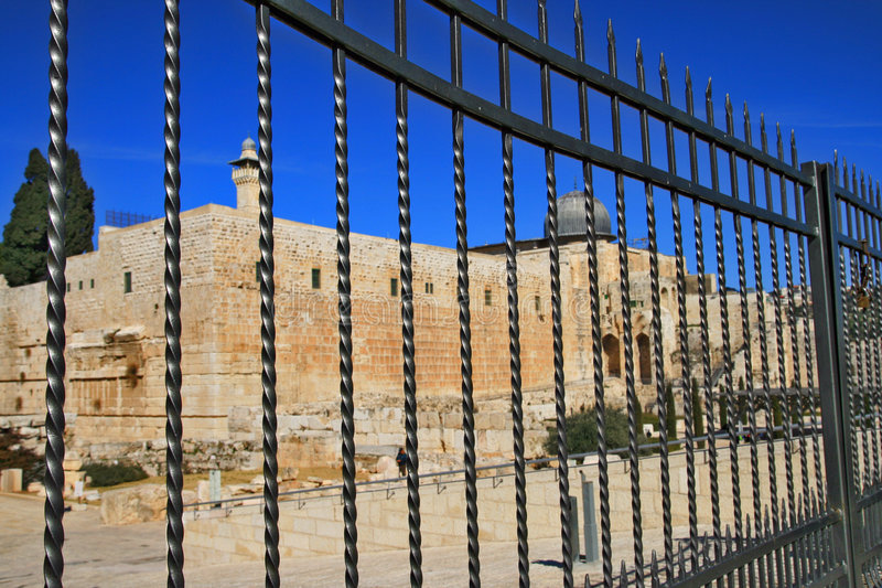 Montanha do templo em Jerusalem fotografia de stock