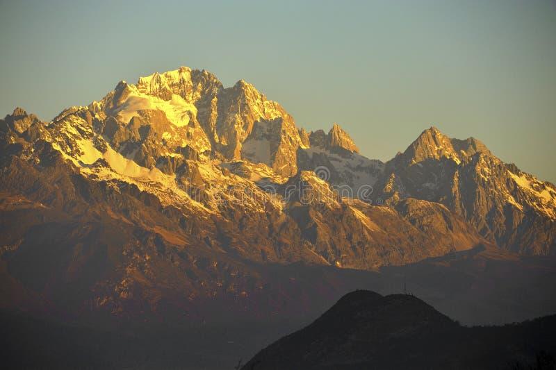 Montanha dourada imagem de stock