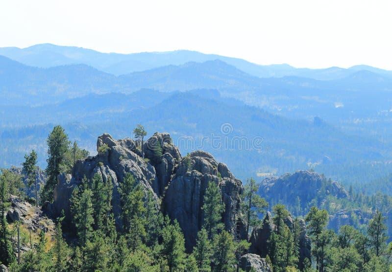 Montanha dramática Ridge em Custer State Park, South Dakota imagem de stock royalty free