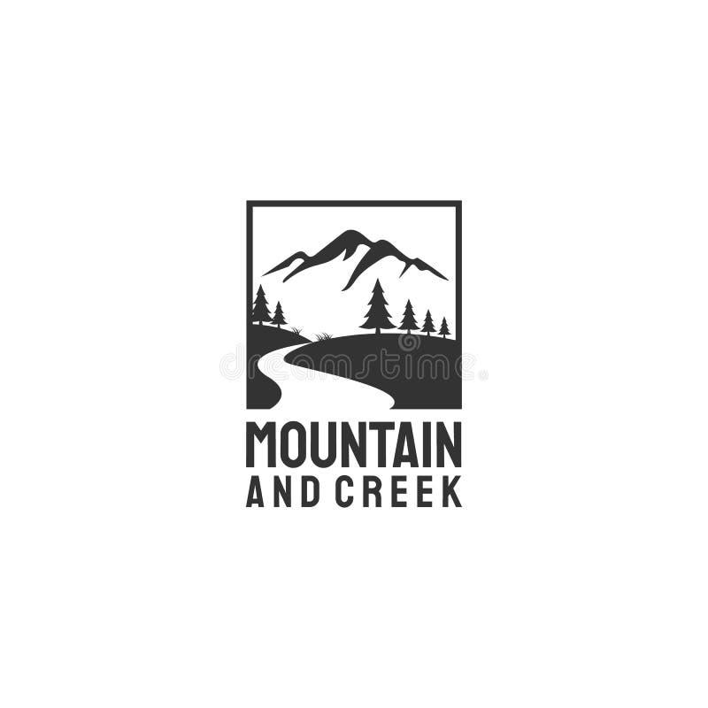 Montanha e angra ilustração stock