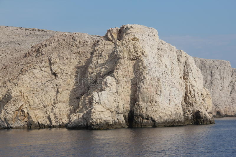 Montanha e paisagem do mar fotografia de stock