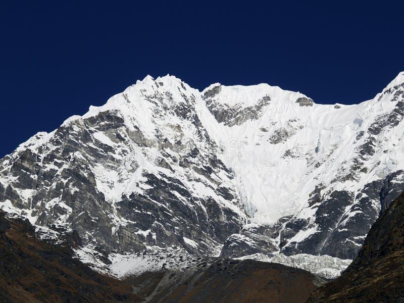 Montanha em Langtang fotografia de stock royalty free