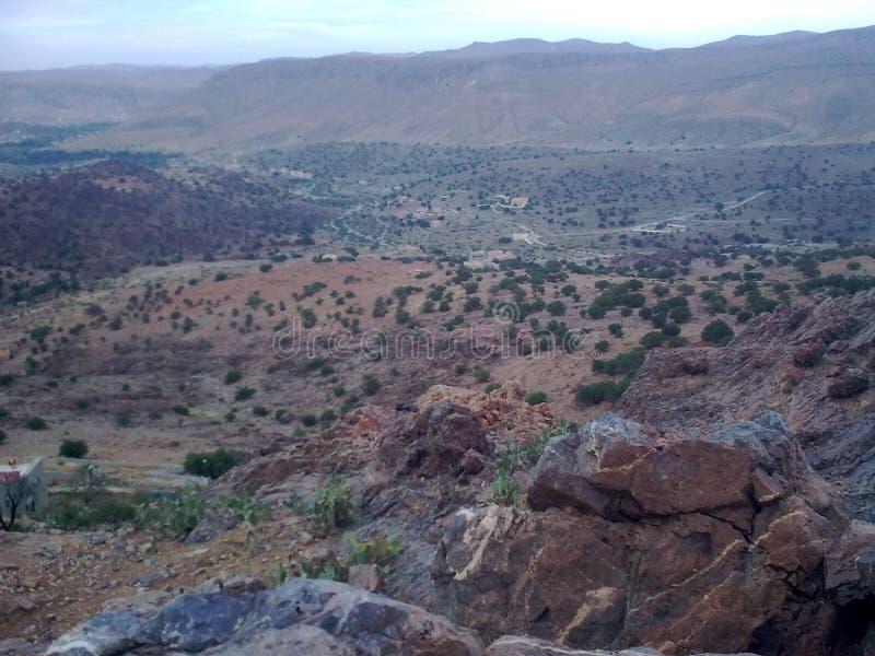Montanha em Tafraout fotos de stock