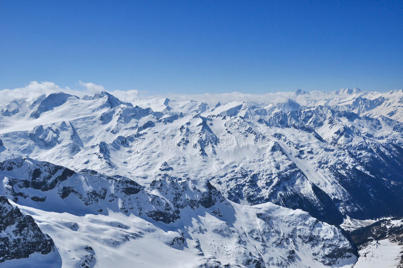 Montanha em Zermatt, Switzerland de Matterhorn fotografia de stock royalty free