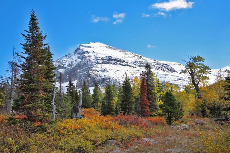 Montanha enorme cónica da neve imagem de stock