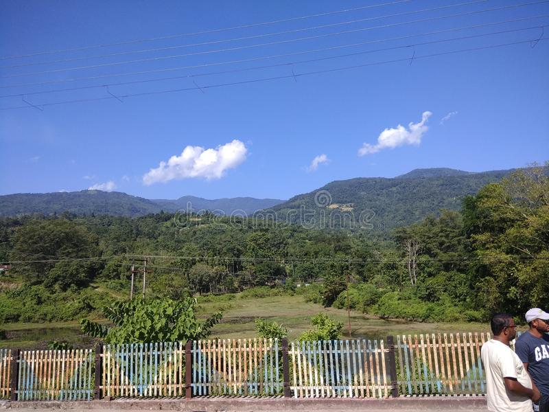 Montanha indiana da floresta da natureza fotos de stock